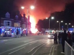 Massive Explosion Leicester Uk Causes Building Collapse