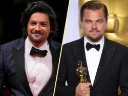 Ali Fazal Richa Chadha S Selfie Accidentally Photobombed Leonardo Dicaprio At Oscars