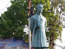 Black Ink Thrown At Statue Jawaharlal Nehru Katwa S Telephone Maidan