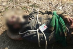 Bullet Riddled Body Youth Tied With Ropes Found Kashmir