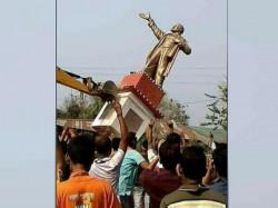 Video On Vandalized Lenin Statue Tripura Goes Viral On Social Media
