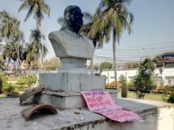 Bjp Condemns Act Vandalising Statue Shyama Prasad Mukherjee Keoratala Mohasoshan Kolkata