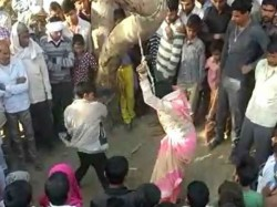 Woman Publicly Beaten Her Husband Uttar Pradesh Permission Granted By Panchayat
