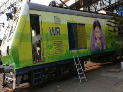 Lime Green Makeover Ac Local Train Mumbai On The Eve International Women S Day