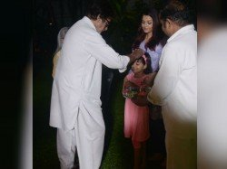 Amitabh Bachchan Blesses Granddaughter Aaradhya On Holi View Pics