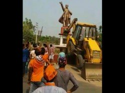 Another Lenin Statue Vandalised Tripura S Sabroom