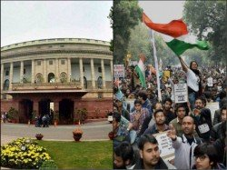 Indian Railway Employees Hold Protrst March Parliament With Various Demands