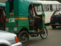 There Are Several Unauthorised Auto Rickshaws Capital Dhaka Bangladesh