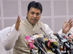 Tripura Cm Biplab Kumar Deb Has Criticised Cpm Congress Allegedly Trying Malign Bjp President