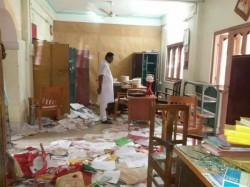 Cpm Has Accused Bjp Ipft Supporters Vandalising Two Its Tripura Offices