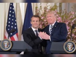 Macron Pitches New Iran Deal Sweeten Existing Agreement Trump