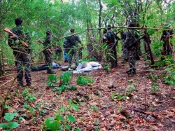 Five Maoists Killed Jharkhand Encounter Underway
