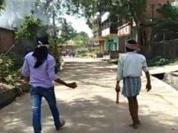 One Died A Clash Between Tmc Bjp Near Suri Block Office