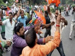 Tmc Goons Allegedly Attacks On Opposition Party Candididates Hariharpara