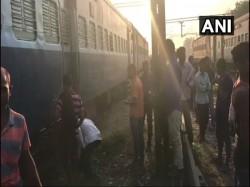 A Loud Explosion Is Heard The Lakhisarai Maurya Express At The Kiul Station Bihar