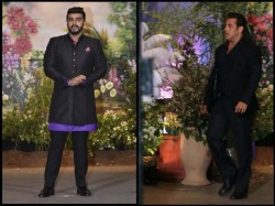 Salman Khan Ignores Arjun Kapoor Leaving Him Visibly Upset At Sonam S Reception