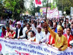 Organisations Assam Is Protesting Against The Move Grant Citizenship Bangladeshi Immigrants
