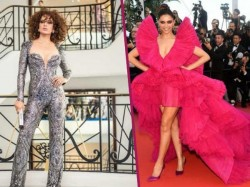 Deepika Padukone Charms Frilly Pink Kangana Ranaut Is Glam In Embroidered Catsuit At Cannes
