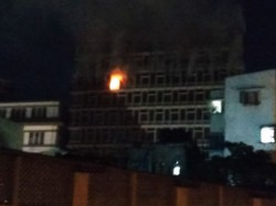 A Fire Broke At Lic Building Kolkata