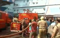 Fire At Sealdah Big Bazar