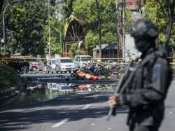 Surabaya City Police Headquarter Indonesia Under Suicide Bom