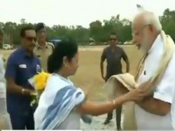 Narendra Modi Arrives Shanti Niketan Attend The Convocation Visva Bharati University