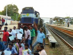 Rail Service Is Destroyed Protest Tribal Community S People