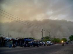 Massive Sandstorm Hits Bikaner S Khajuwala Rajasthan