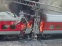 Andhra Pradesh Ac Superfast Express Train Catches Fire Near