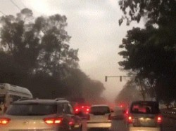 Sudden Dust Storm Upset Delhi Surroundings