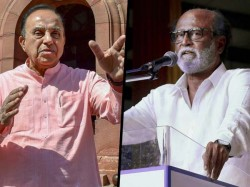 Bjp Mp Subramanian Swamy Attacks Veteran Actor Rajnikanth As Illiterate
