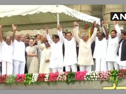 Kumaraswamy Takes The Oath Karnataka