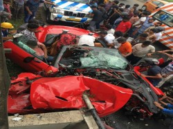 Video Shows Businessman Shibaji Roy Is A Lamborghini Much Before The Accident Time