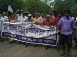 Jamiraksha Committee Arranges Big Rally Protest Alik Chakraborty S Arrest