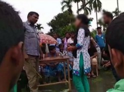An Unmarried Couple Was Forced Get Married At Village Assam