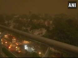 Update On Delhi Weather Rain Strong Wind Dust Storm Hit Del