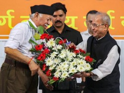 Rss Planning Project Pranab Mukherjee As Pm Candidate Claim Shiv Sena