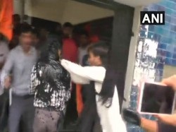 Abvp Activists Assault Kachchh University Professor Blacken Face