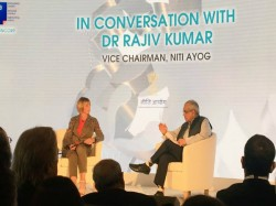 Rajiv Kumar Speaking At The 5th Uk India Leadership Conclave
