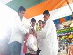 State Minister Shuvendu Adhikari Hands Over Garments Ten Thousands People Nandigram