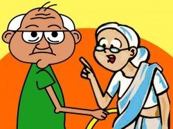 Funny Joke On Mentaly Harassment Old Wife