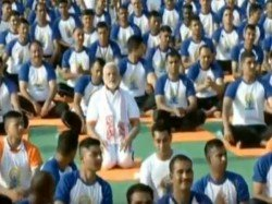 Live Pm Modi Leads Yoga Day Celebrations Dehradun