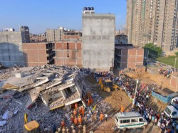 Greater Noida Buildings Collapse Death Toll Rises 9 See The Whole Incident In Pictures