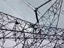 Youth Jumps From Hightention Electric Tower Andal West Bardhaman
