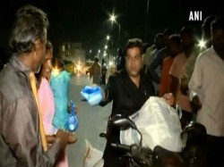 A Hyderabad Man With His Team Serve Food Poor Daily