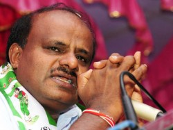 Teary Eyed Kumaraswamy Says He Is Unhappy Become Chief Minister