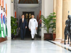 South Korean President Moon Jae In Pm Narendra Modi Hold Bilateral Talks At Hyderabad House