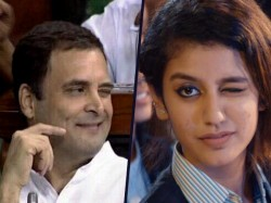 Rahul Gandhi S Viral Wink Compared With Priya Varrier Here Is The Twitter Reaction