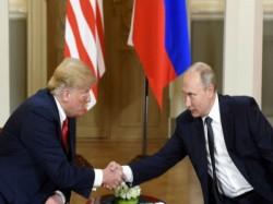 President Trump Russian President Vladimir Putin Met Helsink Finland