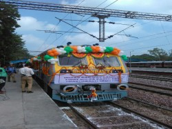 First Ever Solar Train Inaugurated Rail Minister